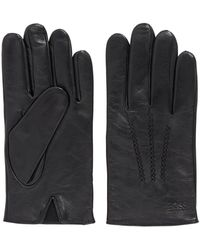 BOSS by Hugo Boss Lambskin Nappa Leather Gloves With Elastic Insert - Black