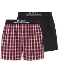 BOSS by Hugo Boss - Lot de deux shorts de pyjama en coton léger - Lyst