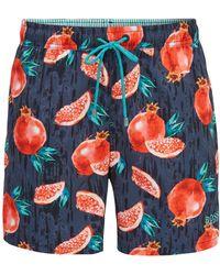 BOSS - Fruit Print Swim Trunk   Threadfin - Lyst