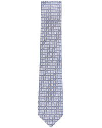 BOSS - Square Embroidered Italian Silk Tie - Lyst