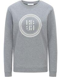 BOSS by HUGO BOSS Sweatshirt aus Bio-Baumwolle mit Logo-Artwork - Mettallic