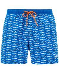BOSS - Shorter-length Swim Shorts With Sea-life Print - Lyst