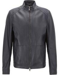 BOSS - Regular-fit Blouson Jacket In Nappa Lambskin - Lyst