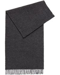 BOSS - Melange-effect Wool Scarf - Lyst