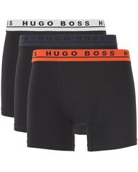 BOSS by Hugo Boss Three-pack Of Boxer Briefs In Stretch Cotton - Multicolour
