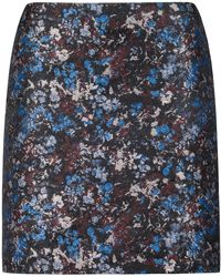 HUGO - Pencil Miniskirt In Floral Camouflage Jacquard - Lyst
