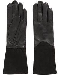 BOSS - Longer-length Lambskin Gloves With Touch Tech Tips - Lyst