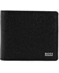 BOSS by Hugo Boss Signature Collection Wallet In Palmellato Leather - Black