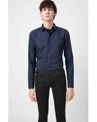 HUGO Jeans Homme Slim Fit en denim Stay Black - Noir