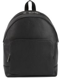 BOSS - Backpack In Grainy Italian Leather With Two-way Zip - Lyst