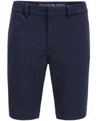 BOSS by HUGO BOSS Bermuda slim fit in jersey elasticizzato con passanti - Blu