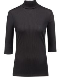 HUGO - Slim-fit Jersey Top With Turtleneck And Short Sleeves - Lyst