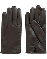 BOSS by HUGO BOSS Handschuhe aus Nappaleder mit gelasertem Logo - Braun