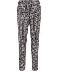 BOSS by HUGO BOSS Pantalones de chándal relaxed fit de seda con las iniciales estampadas - Multicolor