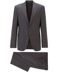 BOSS by HUGO BOSS Regular-Fit Anzug aus Schurwoll-Serge - Grau