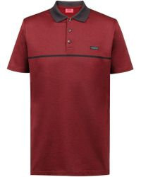 HUGO - Regular-fit Polo Shirt In Cotton Jacquard With Tonal Stripe - Lyst
