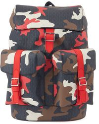 BOSS Camouflage-print Backpack With All-over Monograms - Multicolour