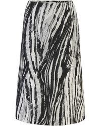 BOSS Regular-fit A-line Skirt In Italian Jacquard - Black