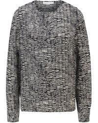 BOSS by HUGO BOSS Top mit U-Ausschnitt, Knöpfen an der Schulter und Print im Zebra-Look - Mehrfarbig