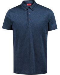 HUGO - Regular-fit Knitted Polo Shirt In Lightweight Cotton Jacquard - Lyst