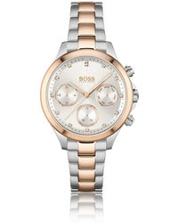 BOSS by HUGO BOSS Tweekleurig Horloge Met Drie Wijzers En Uuraanduidingen - Metallic