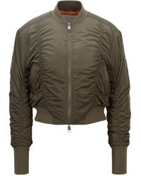 BOSS by HUGO BOSS Ruched Bomber Jacket With Patched Sleeve Pocket - Multicolour