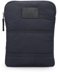 BOSS Orange - Quilted-polyamide Crossbody Bag With Customisable Patch - Lyst
