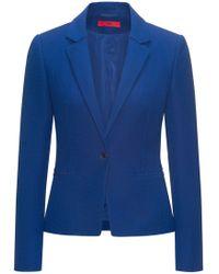 HUGO - Slim-fit Jacket In Yarn-dyed Stretch Fabric - Lyst