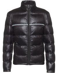 HUGO Slim-fit Quilted Jacket With Logo-tape Detailing - Black