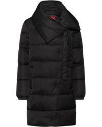 HUGO Regular-fit Water-repellent Puffer Coat With Oversized Collar - Black