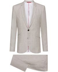HUGO - Extra-slim-fit Pure-linen Suit - Lyst