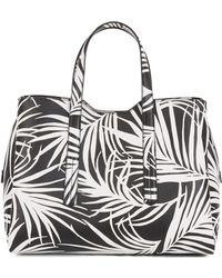 BOSS - Tote Bag In Italian Calf Leather With Seasonal Print - Lyst
