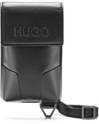 HUGO Halspouch Van Imitatieleer Met Kenmerkende Hardware - Zwart