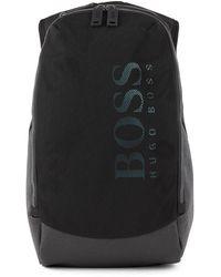 BOSS by HUGO BOSS Rugtas Van Technisch Materiaal En Mesh Met Verticaal Logo - Zwart
