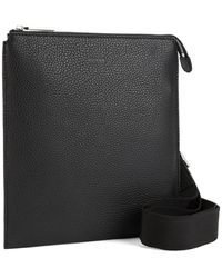 BOSS by HUGO BOSS Envelope Bag In Grained Italian Leather - Black
