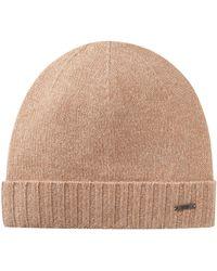 BOSS - Beanie Hat In Mouliné Cashmere - Lyst