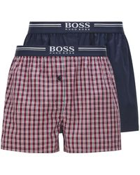 BOSS by Hugo Boss - Lot de deux shorts de pyjama en popeline de coton - Lyst