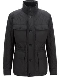BOSS - Regular-fit Quilted Field Jacket With Water-repellent Outer - Lyst
