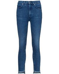 HUGO Lou Skinny-fit Jeans In Blue Stretch Denim