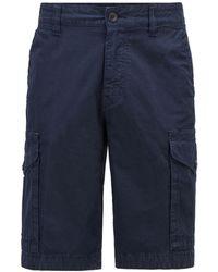 BOSS by HUGO BOSS Tapered-Fit Cargoshorts aus strukturierter Stretch-Baumwolle - Blau