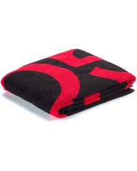 HUGO - Beach Towel In Cotton Terry With Large-scale Logo - Lyst