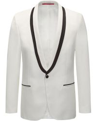 HUGO - Extra-slim Fit Tuxedo Jacket With Piping Detail - Lyst