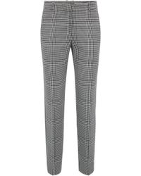 BOSS - Tapered Trousers In Glen-check Fabric With Striped Taping - Lyst
