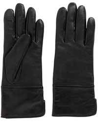 BOSS Lambskin Gloves With Touchscreen Tips - Black