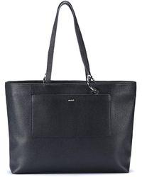 HUGO Grained-leather Shopper Bag With Hardware Logo - Black