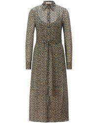 BOSS by HUGO BOSS Bedrucktes Kleid mit abnehmbarem Gürtel und Unterkleid - Mehrfarbig