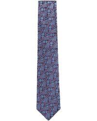 BOSS - Paisley Jacquard Italian Silk Tie - Lyst