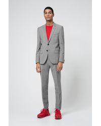 HUGO - Costume Extra Slim Fit en laine mélangée - Lyst