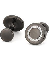 BOSS - Round Cufflinks In Hand-polished Brass - Lyst