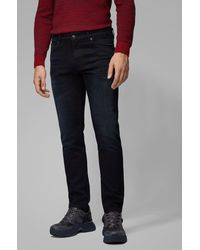 BOSS Jean Regular Fit en denim stretch bleu foncé confortable